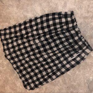 ASOS Black & White Gingham Midi Skirt